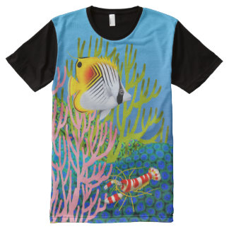 Auriga Butterfly Fish Coral Reef Shirt All-Over Print T-Shirt