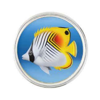 Auriga Threadfin Butterfly Fish Lapel Pin