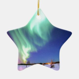 Aurora at Bear Lake. Ceramic Ornament