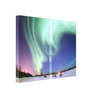 Aurora - Beautiful Northern Lights Stretched Canvas Print