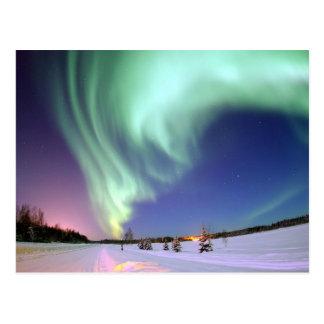 Aurora Borealis,  Arctic Circle Postcard