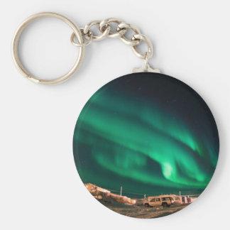Aurora Borealis Basic Round Button Key Ring