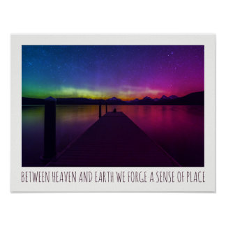 Aurora Borealis Between Heaven And Earth Poster