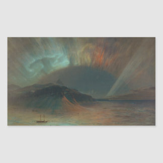 Aurora Borealis by Frederic Edwin Church 1865 Rectangular Sticker