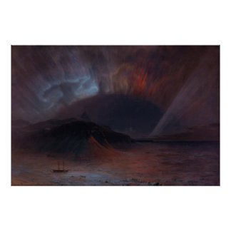 Aurora Borealis by Frederic Edwin Church Poster