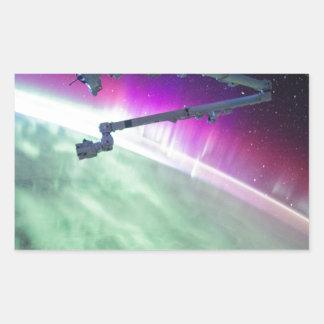 Aurora Borealis from space Rectangular Sticker