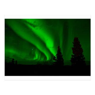 aurora-borealis green postcard