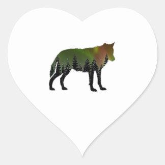 Aurora Borealis Heart Sticker