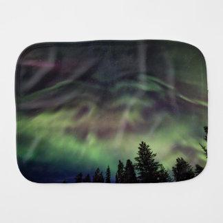 Aurora borealis in Finnish Lapland Burp Cloth