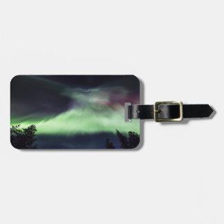 Aurora borealis in Finnish Lapland Luggage Tag