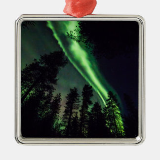 Aurora borealis in Finnish Lapland Metal Ornament