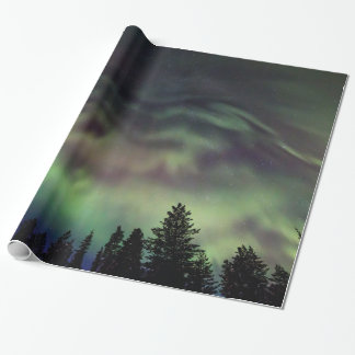 Aurora borealis in Finnish Lapland Wrapping Paper