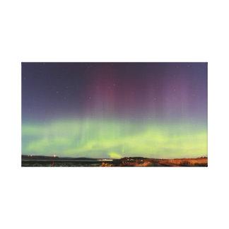 aurora borealis in Scotland Canvas Print
