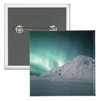 Aurora Borealis, near Palmer, January 17/18, 15 Cm Square Badge