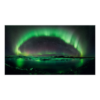 aurora borealis northern lights atmosphere poster