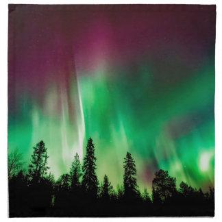 Aurora borealis northern lights napkin