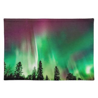 Aurora borealis northern lights placemat