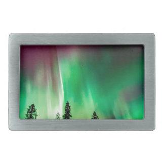 Aurora borealis northern lights rectangular belt buckle