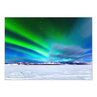 Aurora borealis over frozen Lake Laberge, Yukon Card