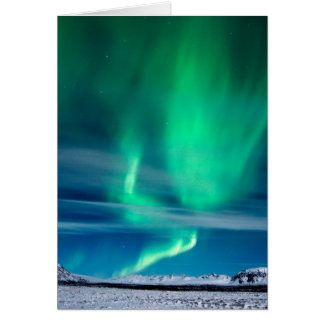Aurora Borealis over Mosfellsheiði Card