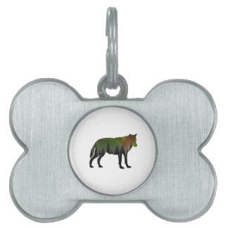 Aurora Borealis Pet ID Tag