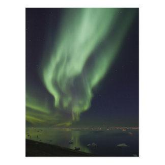 Aurora Borealis reflected in Arctic Ocean Postcard