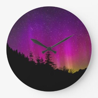Aurora Borealis Spectacular Colors Acrylic Wall Clocks