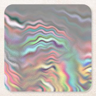 Aurora Borealis Square Paper Coaster