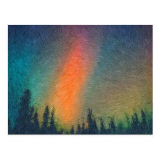 Aurora Borealis Van Gogh Postcard