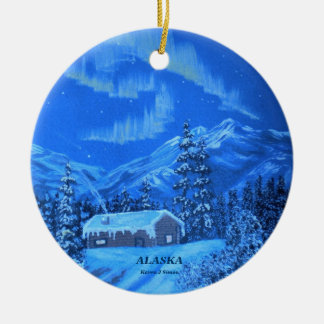 Aurora Cabin Ceramic Ornament