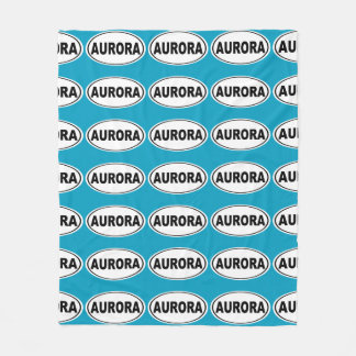 Aurora Colorado Fleece Blanket