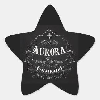 Aurora, Colorado - Gateway To The Rockies Star Sticker