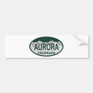 Aurora Colorado license oval Bumper Sticker
