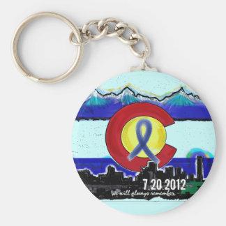 Aurora Colorado memorial skyline artistic keychain