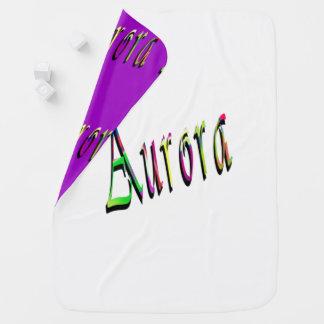 Aurora Girls Name Logo, Baby Blanket