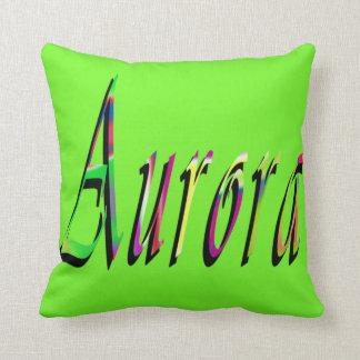 Aurora Girls Name Logo, Cushion