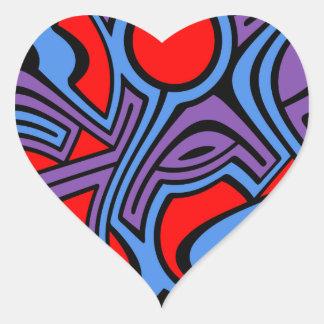 Aurora Heart Sticker