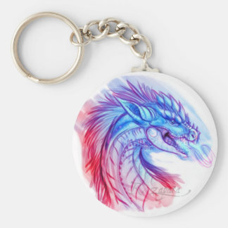 Aurora Ice dragon Key Ring