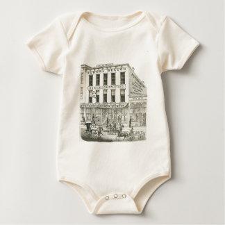 Aurora Illinois Aurora Beacon News 1871 Stone Lith Baby Bodysuit