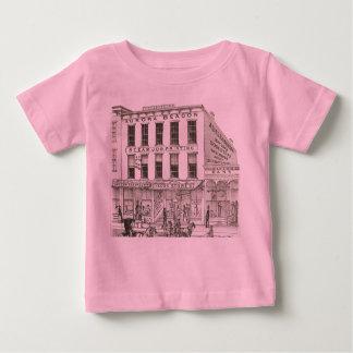 Aurora Illinois Aurora Beacon News 1871 Stone Lith Baby T-Shirt