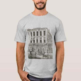 Aurora Illinois Aurora Beacon News 1871 Stone Lith T-Shirt