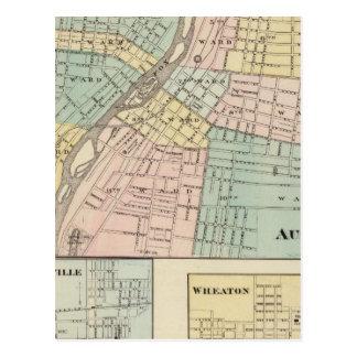 Aurora, Naperville and Wheaton Postcard
