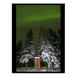 Aurora Over the Outhouse Postcard