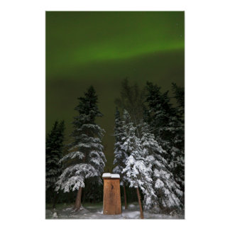 Aurora Over the Outhouse Poster