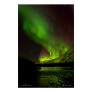 Aurora over the Salcha River Poster