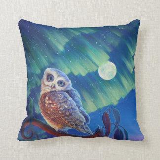 Aurora Owl and Starry Owl. Cushion