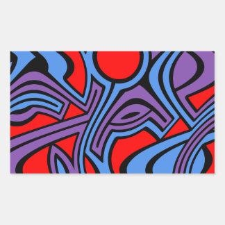 Aurora Rectangular Sticker