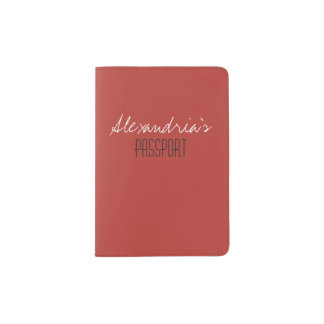 Aurora Red Warm Dynamic Solid Color Custom Passport Holder