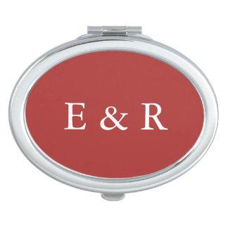 Aurora Red with White Wedding Detail Vanity Mirrors