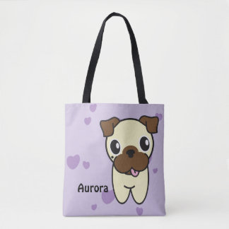 Aurora the Pug Tote Bag